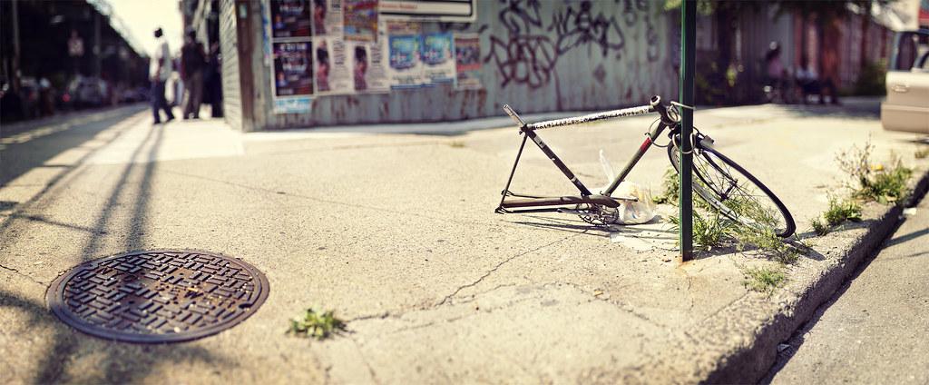 Bike on Broadway and Belvidere