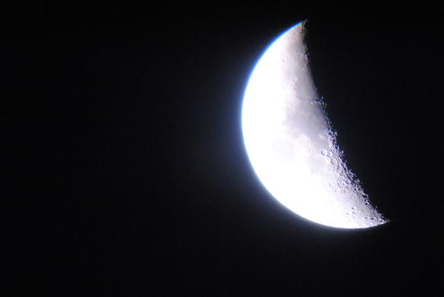 Luna cuarto creciente flickr photo sharing for Cuarto menguante de la luna