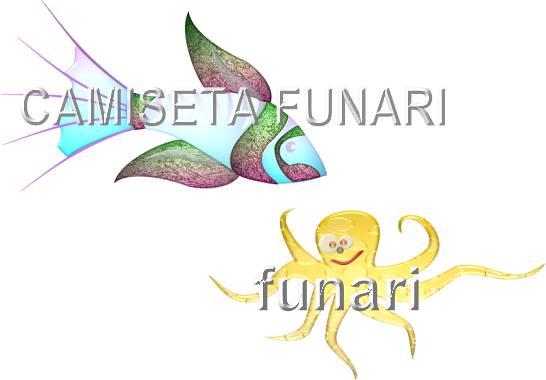 desenho foto tatoo polvo peixe amizade mar