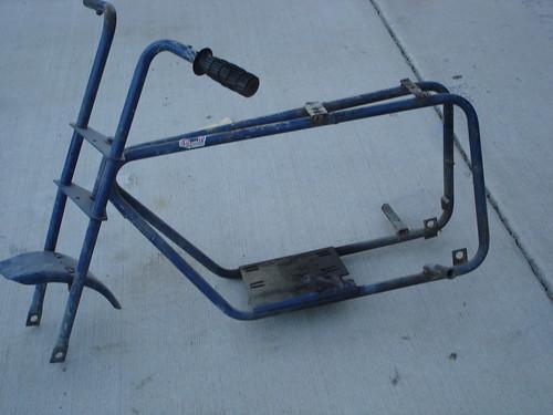 Mini Bike Frame : Blue mini bike frame
