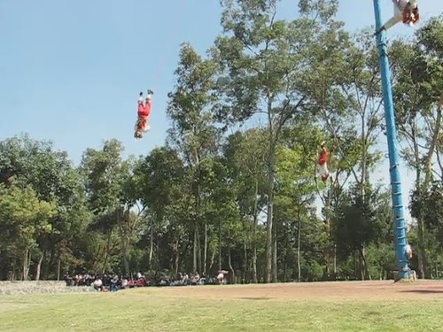 flying in circles (voladores video from mexico city)