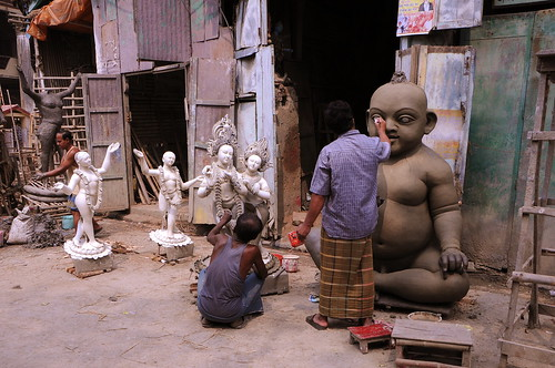 The Sculptors at Work in Kolkata, India