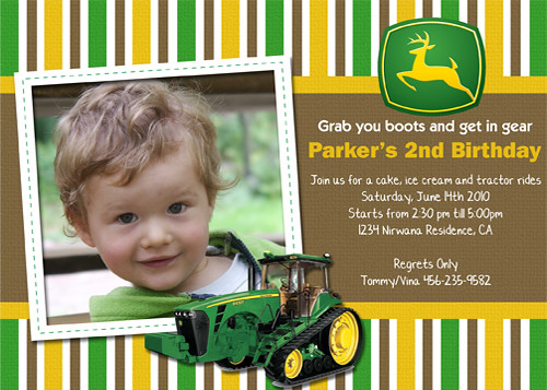 John Deere Party Invitations with perfect invitations design