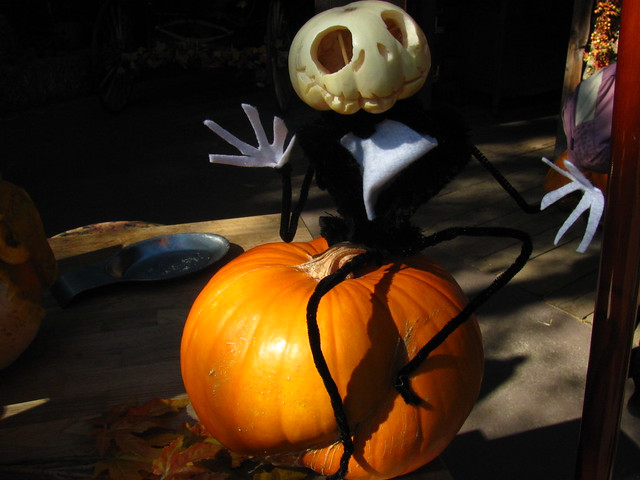 Jack Skellington pumpkin at Big Thunder Ranch Halloween Roundup