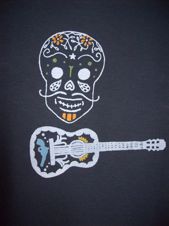 Calavera t-shirt detail
