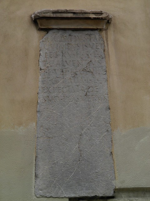 Roman gravestone on the so-called