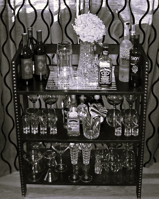 DIY Home Mini Bar Black With Studs Crystal Decanter Flickr Photo Sharing
