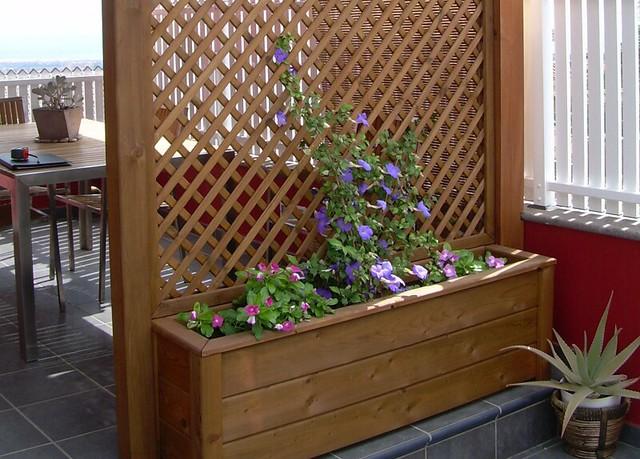 Jardineras de madera exterior flickr photo sharing - Jardineras de madera ...