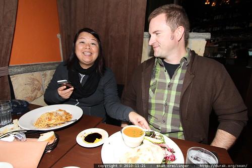 darika & brian @ lunch in zeppo
