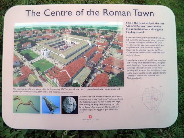 The Centre of the Roman Town (panel), Calleva Atrebatum