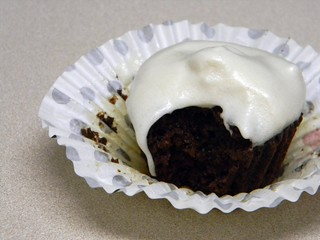 grain-free chocolate popover cakes with marshmallow frosting