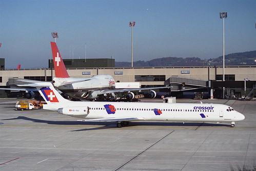 Crossair MD-83; HB-INV@ZRH;12.11.1995