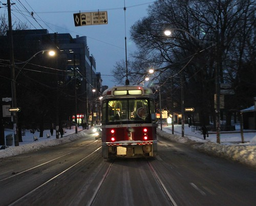 Lonely streetcar