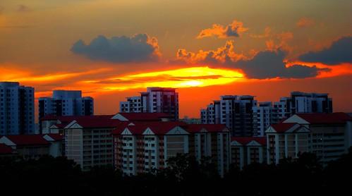 sunset sky sun colour singapore 日落 jurongeast linkway88