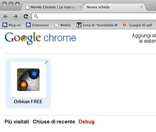 Chrome e le webapp