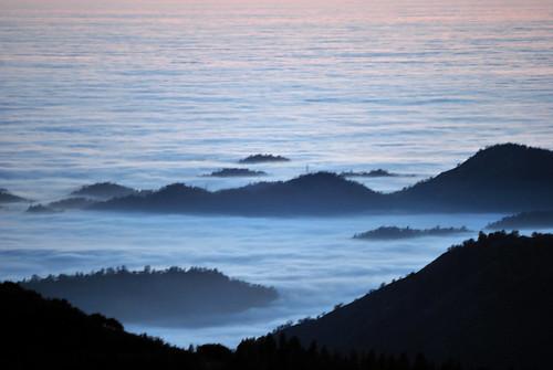 sunset orange mountains colors fog clouds evening view valley vista sierranevada sanjoaquin coastrange fourlanes