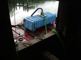 Blue Container to Contain Sediment