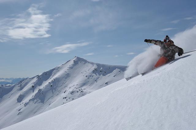 Marmot Basin AB skier Andre