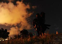 A U.S. Navy Sea Air and Land Remains Vigilant During a Beach Reconnasaince Training Scenario