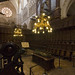 Vista de la sillería de coro de la Catedral de Burgos