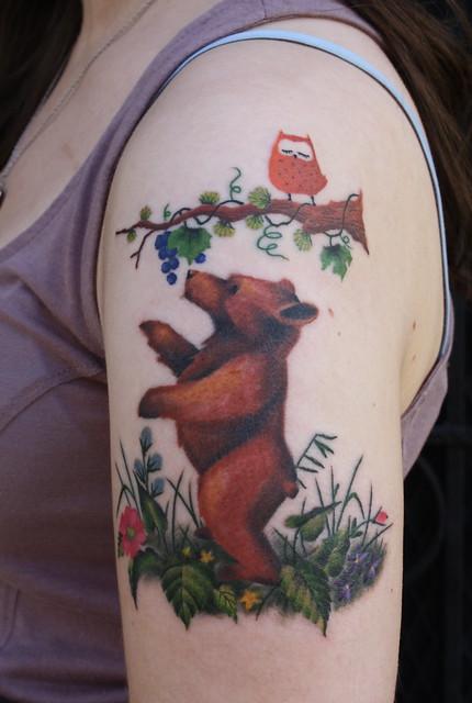 Ink for Bear cub tattoo