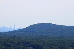 NYC Skyline Behind Mountain
