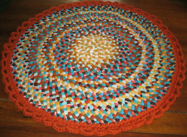 Burnt Orange Gold Round Braided Rug Flickr Photo Sharing