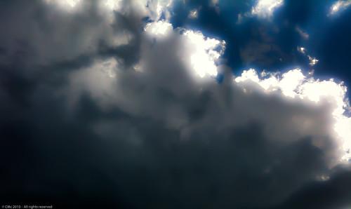 therebeastormabrewin cloudsstormssunsetssunrises