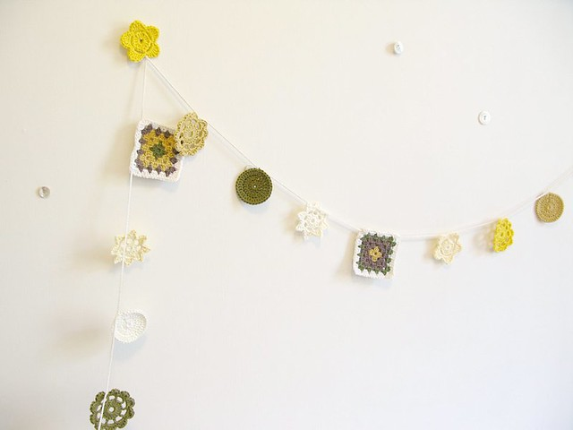 Myrtle crochet garland by Emma Lamb