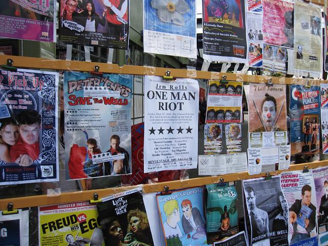 Fringe 2010 poster wall