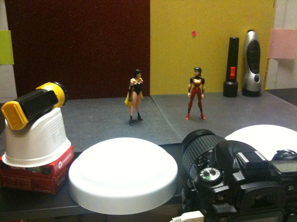 Crime Syndicate Superwoman vs. Justice Lords Wonder Woman Setup