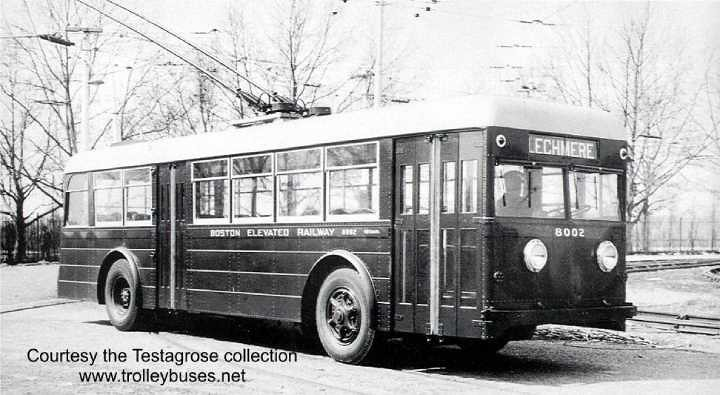 BERy Pullman trackless trolley 8002