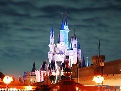 world, walt disney world, landmark, evening, night, amusement park,