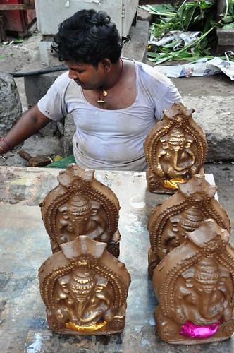 Mud Ganesh Statues