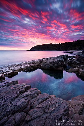 longexposure pink red seascape reflection pool rock clouds contrast sunrise canon reflections twilight rocks chad australia qld queensland noosa mystical canon5d colourful canonef1740mmf4lusm solomon rockpool outstanding reflecton singhray chadsolomon