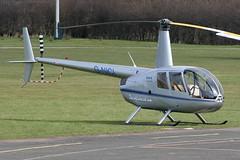 G-NICI - 2005 build Robinson R44 Raven II, visiting Barton