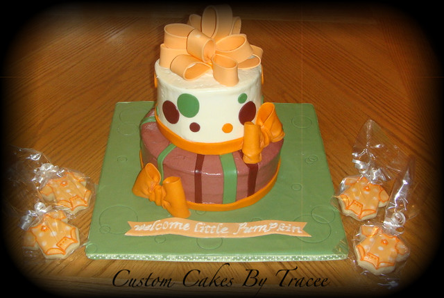 Fall Baby Shower Cakes http://www.flickr.com/photos/traceemakescakes/5022795231/