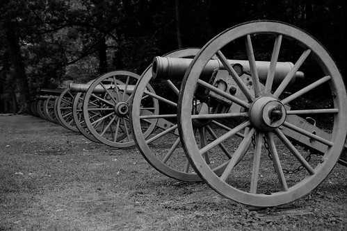 blackandwhite bw landscape blackwhite tennessee civilwar cannon artillery battlefield 1862 shiloh battlefields blancetnoir duncanfield