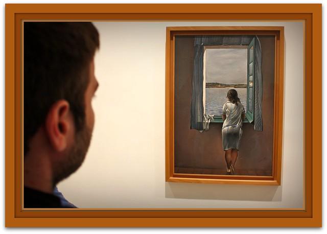 Photo for Ragazza alla finestra quadro