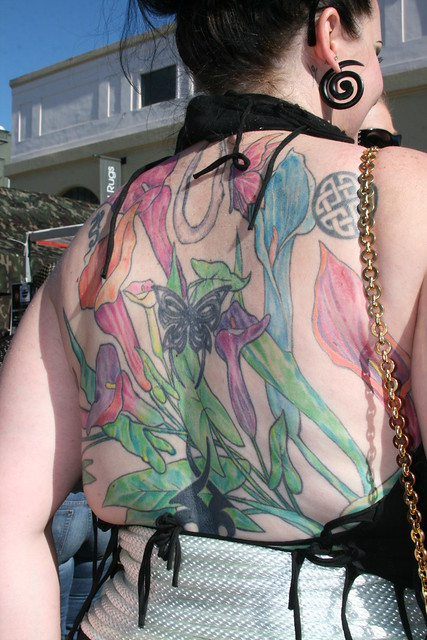 Backpiece: Various Iris Flower Tattoos