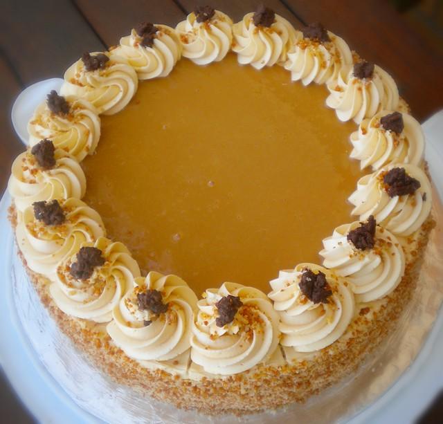 Dulce De Leche Chiffon Cake