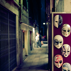 Masks in the alley