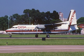 CATA Fairchild Industries FH-227B; LV-MGV@AEP, February 2001/ CKW