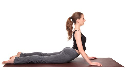 yoga poses - Cobra Pose position (bhujangasana)