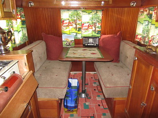 Covered Wagon Trailer Interior  - 1937