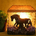 Vintage Beuceware Horse at Sunset TV Lamp-Night Light