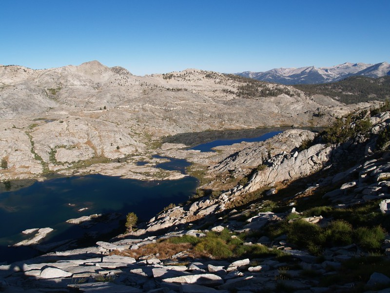 A view of the lower (northern) end of the Volcanic Lakes Basin.