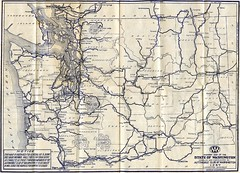 Washington State Highway Map 1927
