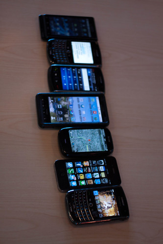 Smart phones - Image via Flickr users Dru Bloomfield