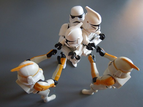 The Stormtrooper is leaving the kids to the clone parents ii